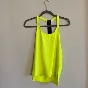 Fabletics Demi Lovato neon yellow green tank top